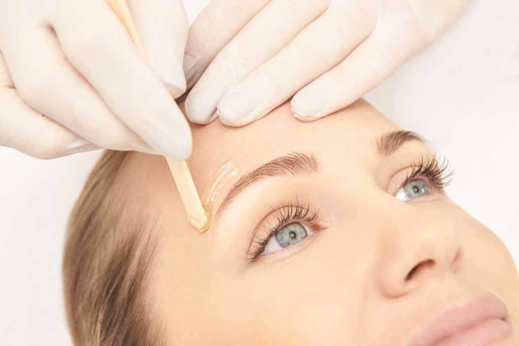 Waxing Eyebrows